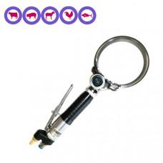 Cuchillo circular neumático 128 mm.   IBEX 1045 por ejemplo para el recorte con indicador de profundidad de la grasa de cerdo --